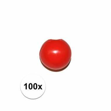 Feestwinkel | 100x rode clowns neus/neuzen zonder elastiek morgen ams