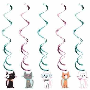 Feestwinkel | 10x katten/poezen feest hangdecoratie morgen amsterdam