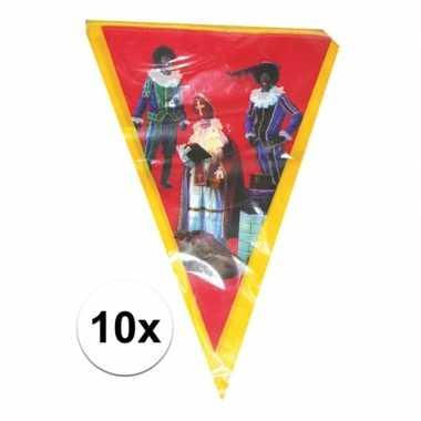 Feestwinkel | 10x sinterklaas vlaggenlijn versiering 5 meter morgen a