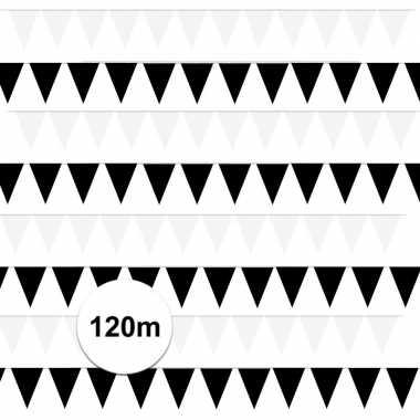 120 meter zwart witte buitenvlaggetjes