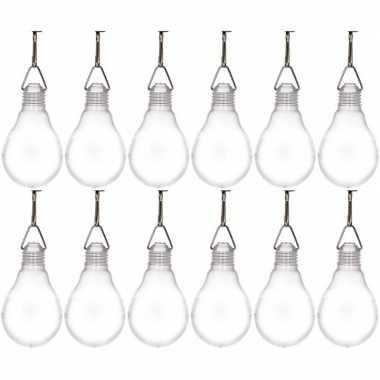 Feestwinkel | 12x buiten verlichting solar lampjes wit 11,8 cm morgen