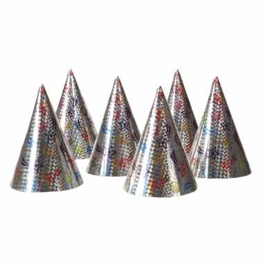 Feestwinkel | 12x kartonnen feesthoedjes morgen amsterdam