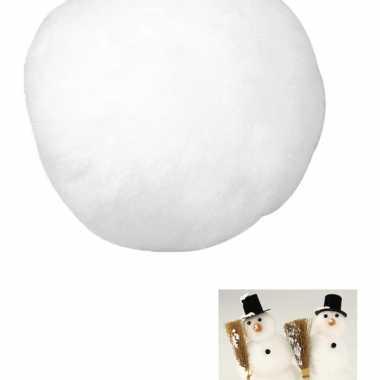 Feestwinkel | 12x kunst sneeuwbal van acryl 7,5 cm morgen amsterdam