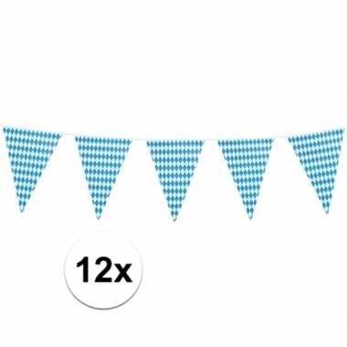 Feestwinkel | 12x xl oktoberfest vlaggenlijnen 8 m morgen amsterdam