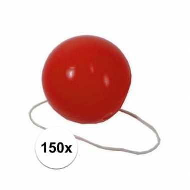 Feestwinkel | 150x rode verkleed clown neusjes morgen amsterdam