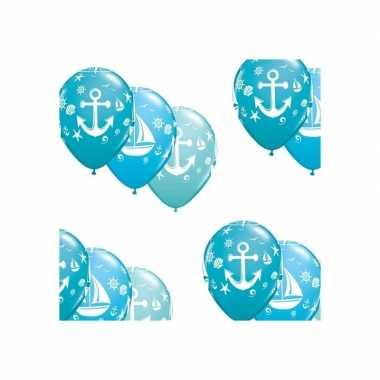 Feestwinkel | 15x stuks maritiem thema party ballonnen morgen amsterd