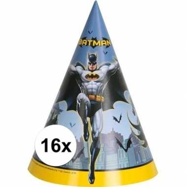 Feestwinkel | 16x batman kartonnen feesthoedjes morgen amsterdam