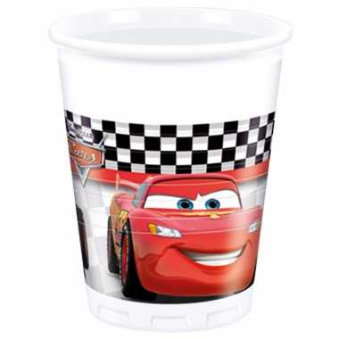 Feestwinkel | 16x disney cars drinkbekers 200 ml kinderverjaarda morg