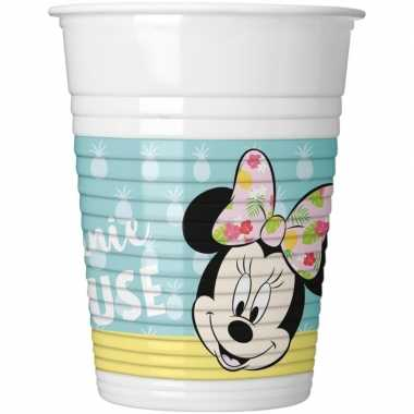 Feestwinkel | 16x disney drinkbekers 200 ml minnie mouse kinderverjaa