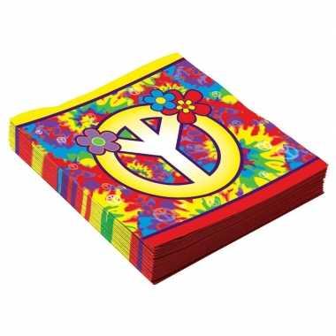 Feestwinkel | 16x hippie servetjes 33 cm morgen amsterdam