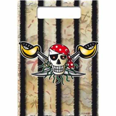 Feestwinkel | 16x piraten uitdeelzakjes verjaardag morgen amsterdam