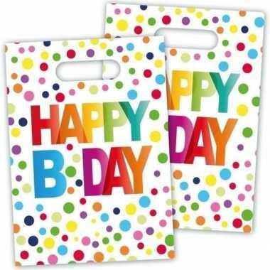 Feestwinkel | 16x verjaardag feestzakjes b-day 22 cm morgen amsterdam