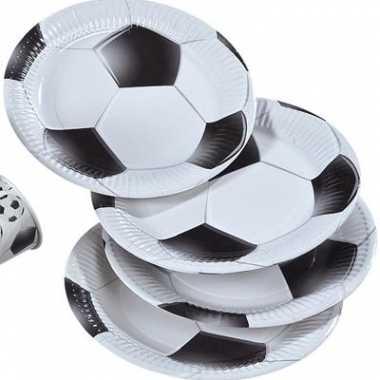 16x voetbal bordjes zwart met wit