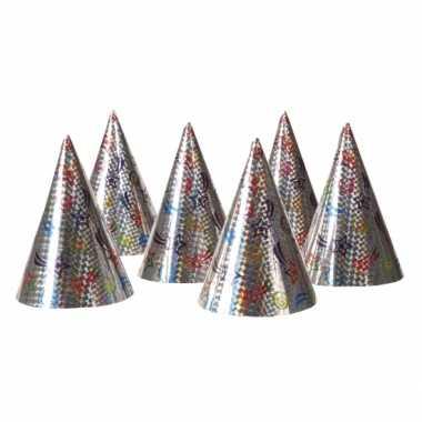 Feestwinkel | 18x kartonnen feesthoedjes morgen amsterdam