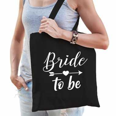 Feestwinkel | 1x bride to be vrijgezellenfeest tasje zwart dames morgen amsterdam