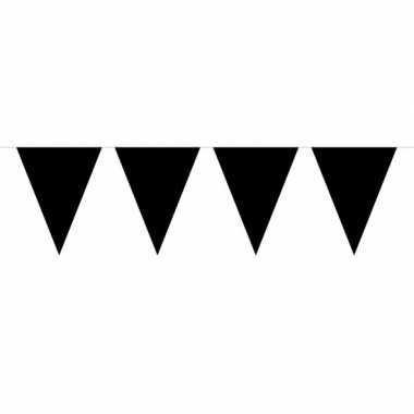 Feestwinkel | 1x mini vlaggenlijn zwart 300 cm morgen amsterdam