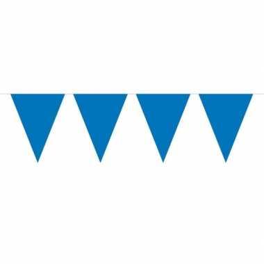 Feestwinkel | 1x mini vlaggetjeslijn slingers blauw 300 cm morgen ams