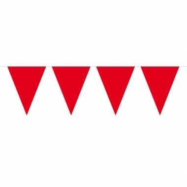 Feestwinkel | 1x mini vlaggetjeslijn slingers rood 300 cm morgen amst
