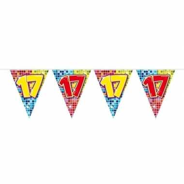 Feestwinkel | 1x mini vlaggetjeslijn slingers verjaardag versiering 1