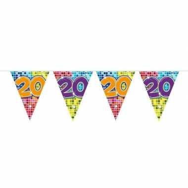 Feestwinkel | 1x mini vlaggetjeslijn slingers verjaardag versiering 2