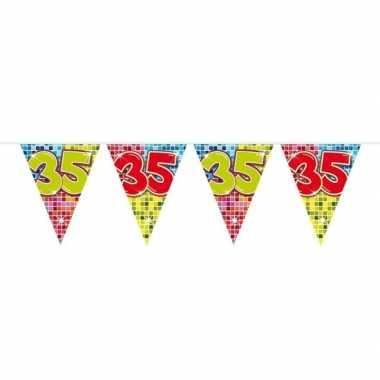 Feestwinkel | 1x mini vlaggetjeslijn slingers verjaardag versiering 3