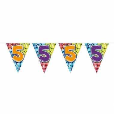 Feestwinkel | 1x mini vlaggetjeslijn slingers verjaardag versiering 5
