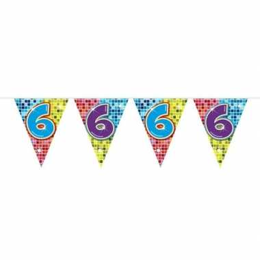 Feestwinkel | 1x mini vlaggetjeslijn slingers verjaardag versiering 6