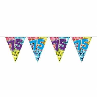 Feestwinkel | 1x mini vlaggetjeslijn slingers verjaardag versiering 7