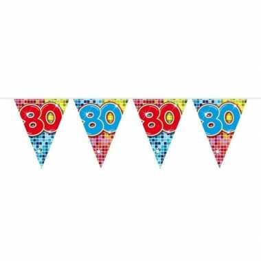 Feestwinkel | 1x mini vlaggetjeslijn slingers verjaardag versiering 8