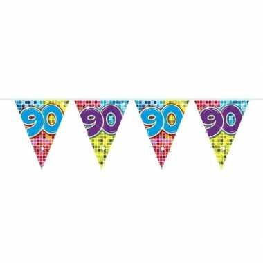 Feestwinkel | 1x mini vlaggetjeslijn slingers verjaardag versiering 9