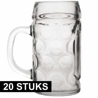 Feestwinkel | 20x bierpullen/bierglazen van 1 liter morgen amsterdam