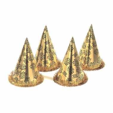 Feestwinkel   20x gouden feest hoedjes nieuwjaar morgen amsterdam
