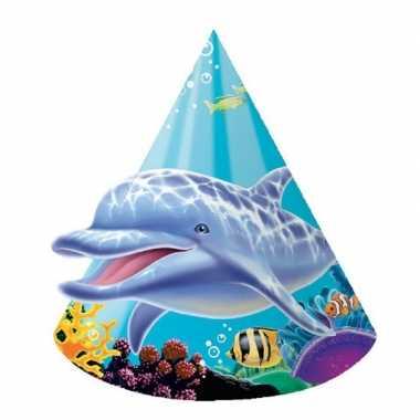 Feestwinkel | 24x stuks oceaan thema kinder feesthoedjes morgen amsterdam