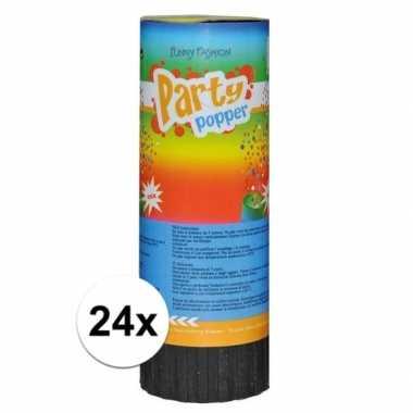 Feestwinkel | 24x voordelige party popper 11cm morgen amsterdam
