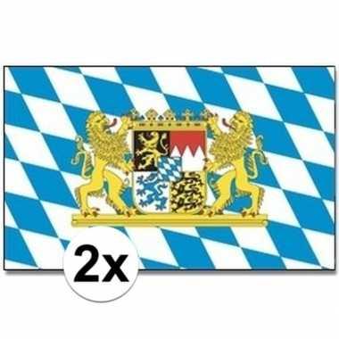 Feestwinkel | 2x beierse landen vlaggen 90x150 cm morgen amsterdam