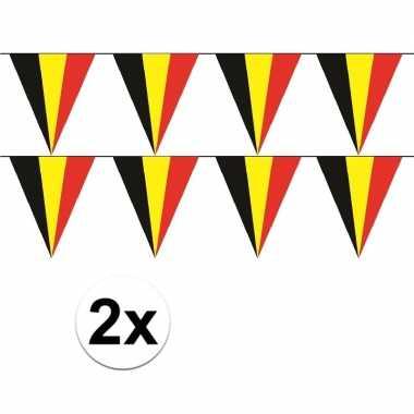 2x belgische vlaggenlijn slinger 5 meter
