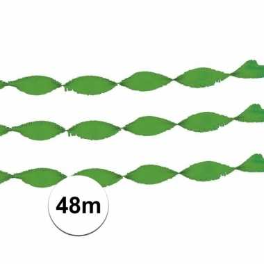 Feestwinkel | 2x crepe papier slinger groen 24 meter morgen amsterdam