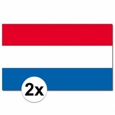 2x nederlandse vlaggen 90x150 cm