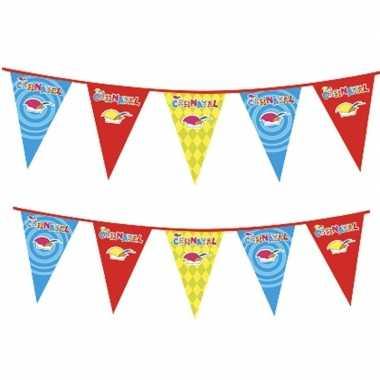 Feestwinkel | 2x plastic carnaval vlaggenlijnen morgen amsterdam