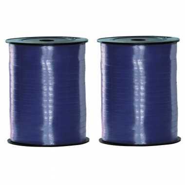 Feestwinkel | 2x rollen blauw krullint 500 meter x 5 milimeter morgen amsterdam
