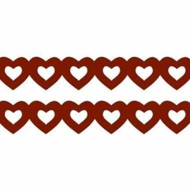 Feestwinkel | 2x stuks rode hartjes slingers van papier morgen amster