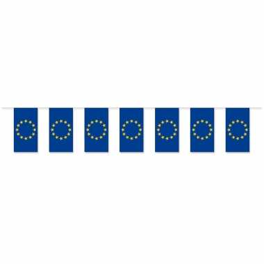 Feestwinkel | 2x stuks slinger europa van papier 5 meter morgen amsterdam