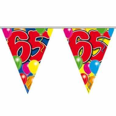 Feestwinkel | 2x vlaggenlijnen 65 jaar feestartikelen van 10 meter mo
