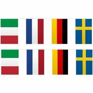 Feestwinkel | 2x vlaggetjeslijn europa 10 meter morgen amsterdam