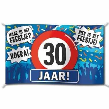 Feestwinkel | 30 jaar versiering banner 100 x 150 cm morgen amsterdam