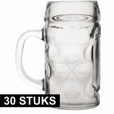 Feestwinkel   30x bierpullen/bierglazen van 1 liter morgen amsterdam