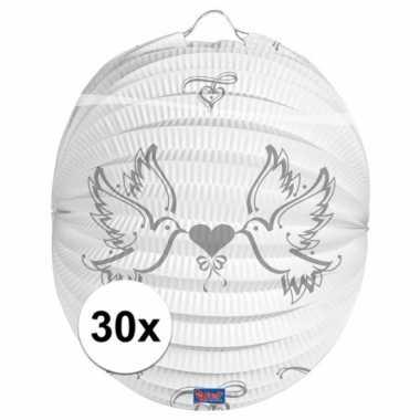 30x lampionnen voor een bruiloft 22 cm