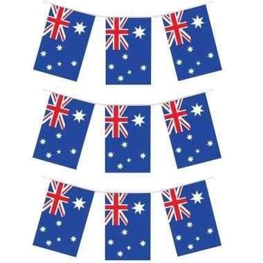 Feestwinkel | 3x australische vlaggenlijnen 4 meter landen decoratie morgen amsterdam