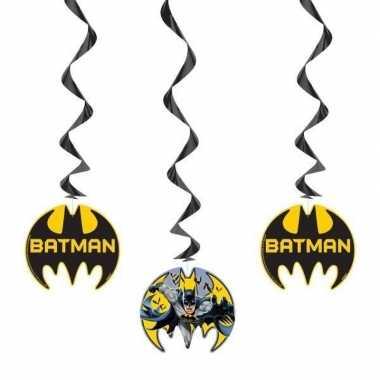 Feestwinkel   3x batman feest hangdecoratie rotorspiralen morgen amst