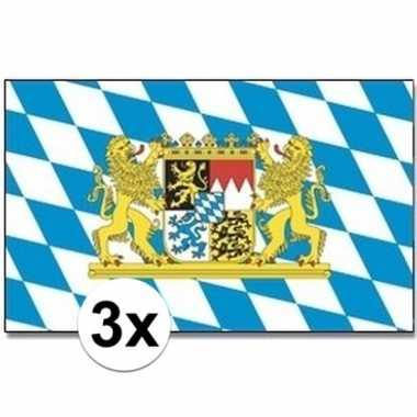 Feestwinkel | 3x beierse landen vlaggen 90x150 cm morgen amsterdam